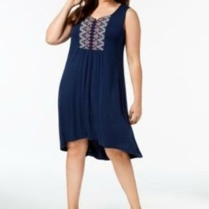 Women's Style & Co. Embroidered Swing Dress 3X $59